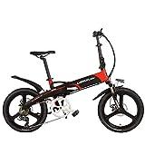 LANKELEISI G660 Elite 20' Bicicleta eléctrica Plegable, batería de Litio 48V, Marco de...