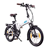 NCM London+ Bicicleta eléctrica Plegable, 250W, Batería 36V 19Ah 684Wh, 20' (Blanco +)
